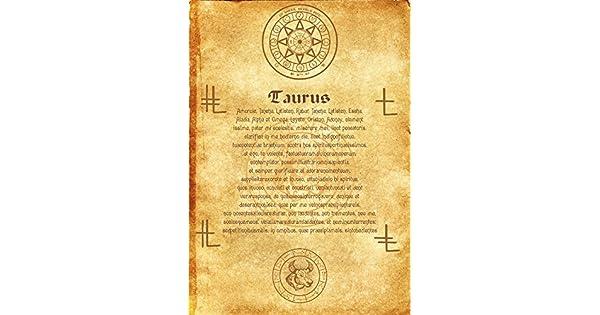 Amazon.com: Ancient Scroll Ángel Zodiac Taurus Wicca Pagan ...