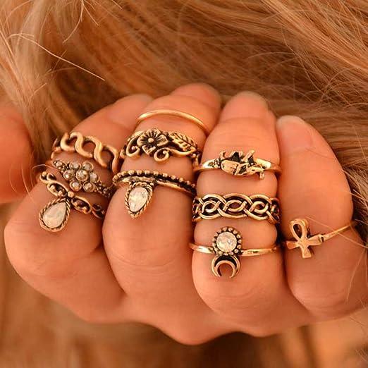 Boho Vintage Women Above Ring Set Midi Finger Knuckle Rings LC