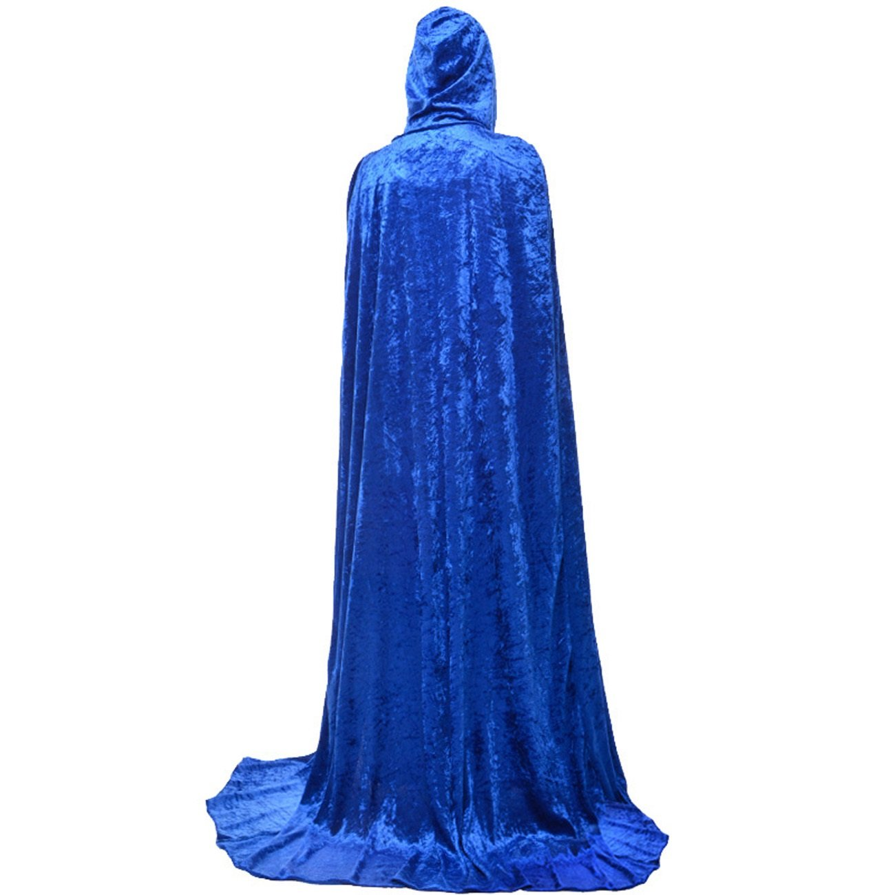 Gameyly Unisex Death Hooded Cape Halloween Velevt Full Length Cloak Cosplay Costumes Gameyly-108984-Black