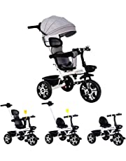 4 in1 Baby Toddler Kids Trike Tricycle Bike Children Bicycle 3 Wheels Ride On Toy