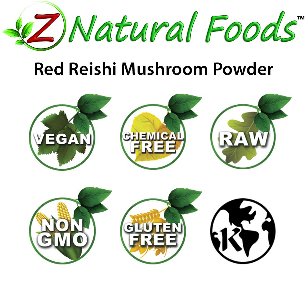 Red Reishi Mushroom Powder - 42 servings (1 lb) - Support Immune, Sleep, & Stress - Mix In Tea, Coffee, Smoothies, & Recipes - 100% Pure, Vegan, Gluten Free, Non GMO, & Kosher by Z Natural Foods