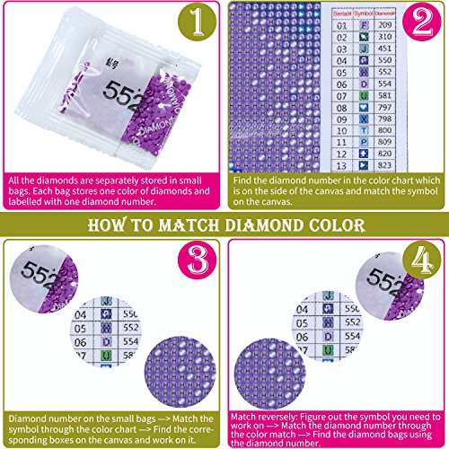 Artoree Diy 5d Diamond Painting By Number Kit For Adult Full Drill