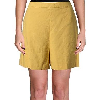 875ccfd906 Amazon.com: Theory Womens Tarrytown Linen High Waist Casual Shorts ...