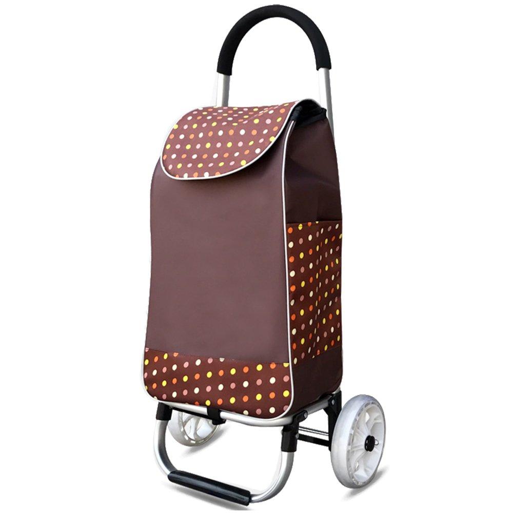 QING MEI 食料品のカート小さいカートショッピングカートのトロリー車の上昇の建物の折り畳み式のトロリー A+ (色 : B) B07MHNJMKX B