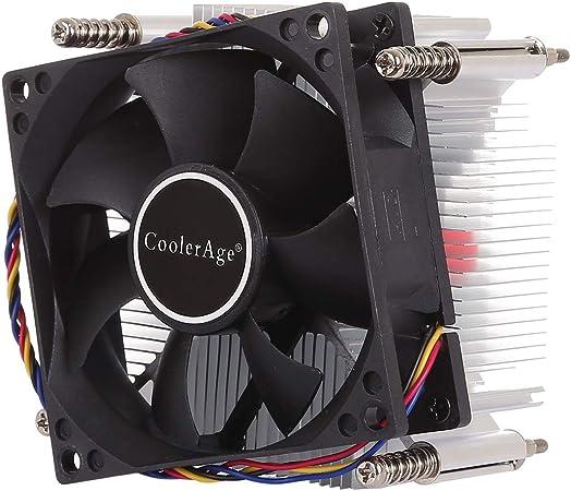 ZHIFEIS Ventilador de la computadora, 4Pin CPU Cooler de Mudo ...