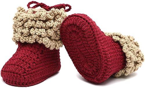 Bébé Crochet Handmade shoes boots booties Knitting First Shoes