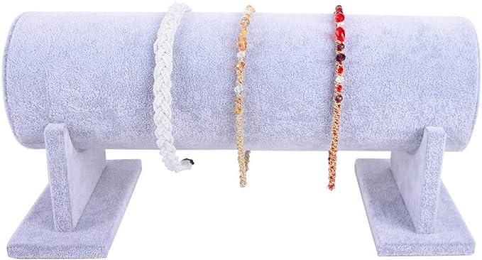 AUTOARK Jewelry Showcase Display Stand and Organizer,Headband Headpiece Decorative Chain Holder,Ice Velvet,AJ-055