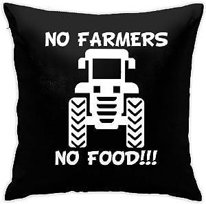 No Farms No Food Farmer Pillow Covers 18x18 Inch,Bedroom Living Room Sofa car Pillowcase