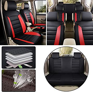 Land Rover Discovery 3 /& 4 Black Tailored Waterproof Front Rear Seat Covers NA