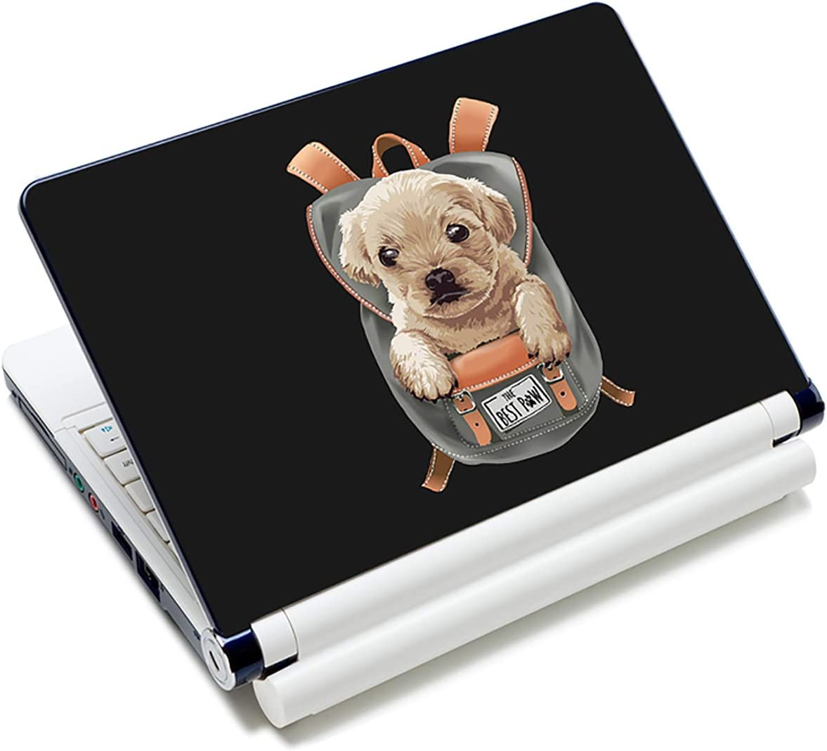 Laptop Stickers Decal,12 13 14 15 15.6 inches Netbook Laptop Skin Sticker Reusable Protector Cover Case for Toshiba Hp Samsung Dell Apple Acer Leonovo Sony Asus Laptop Notebook (Cute Dog)