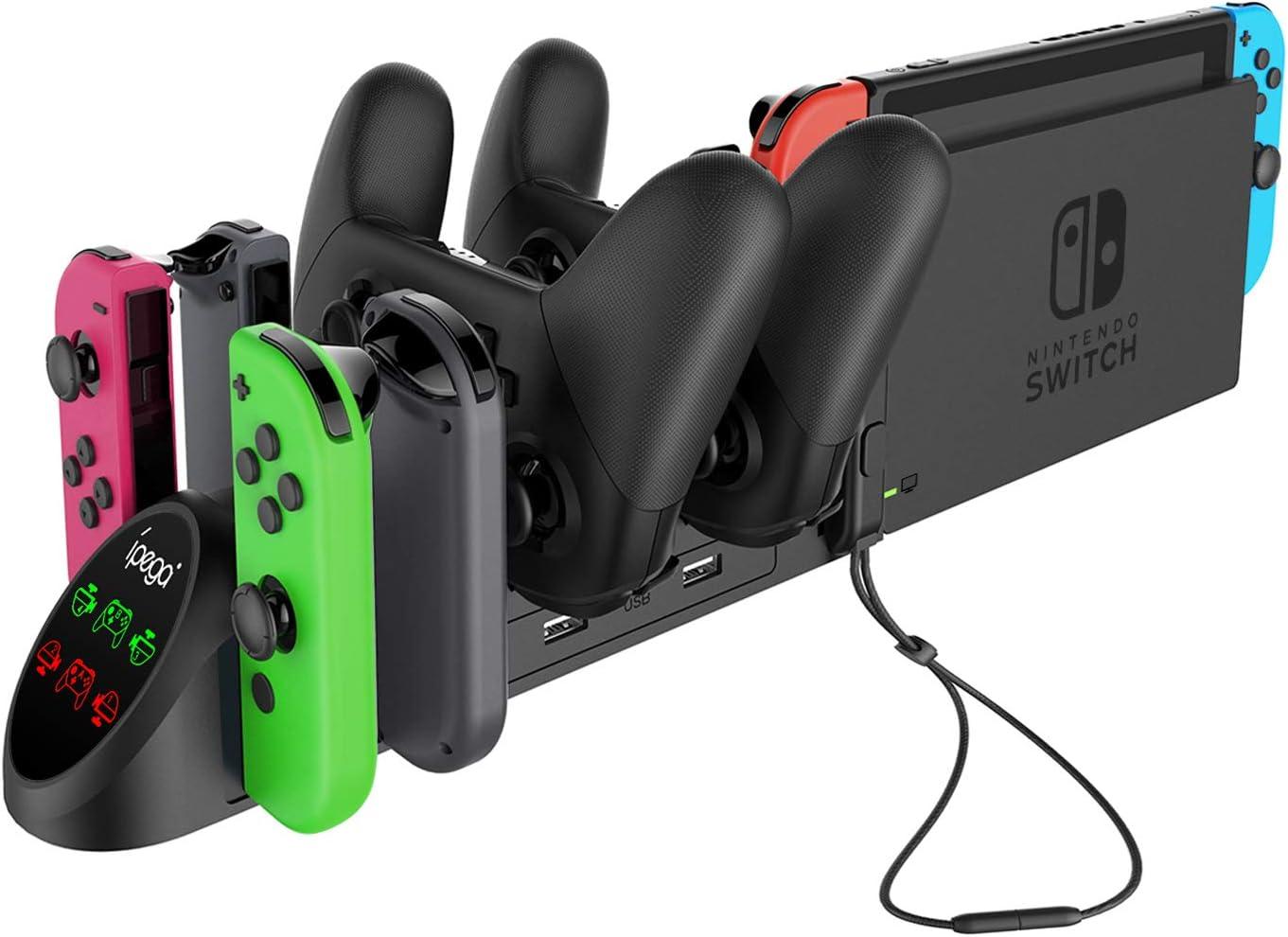 Base de carga para Nintendo Switch Pro Controller y Joy-Cons ...
