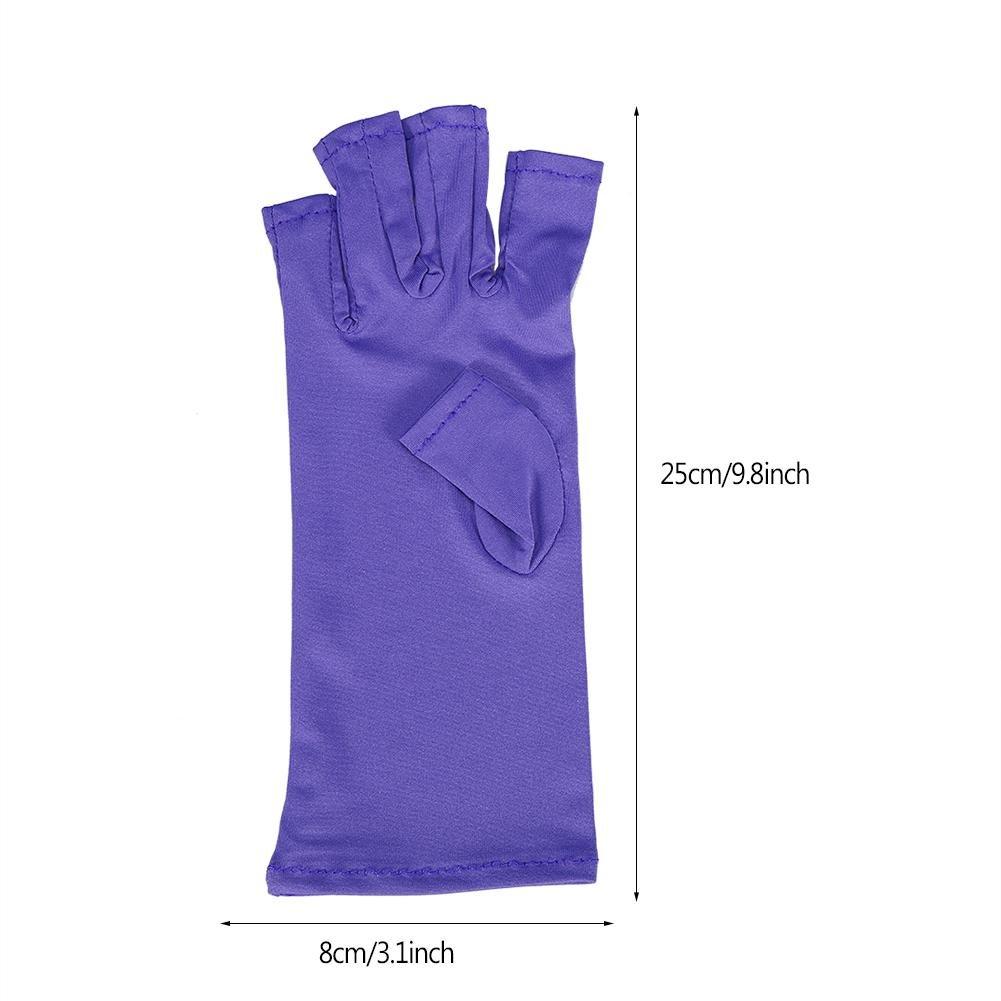 Guante para Uñas Arte anti-UV para manicura de gel herramienta de arte de uñas UV para protección de radiadores para lámpara LED Secador de uñas Resistencia ...
