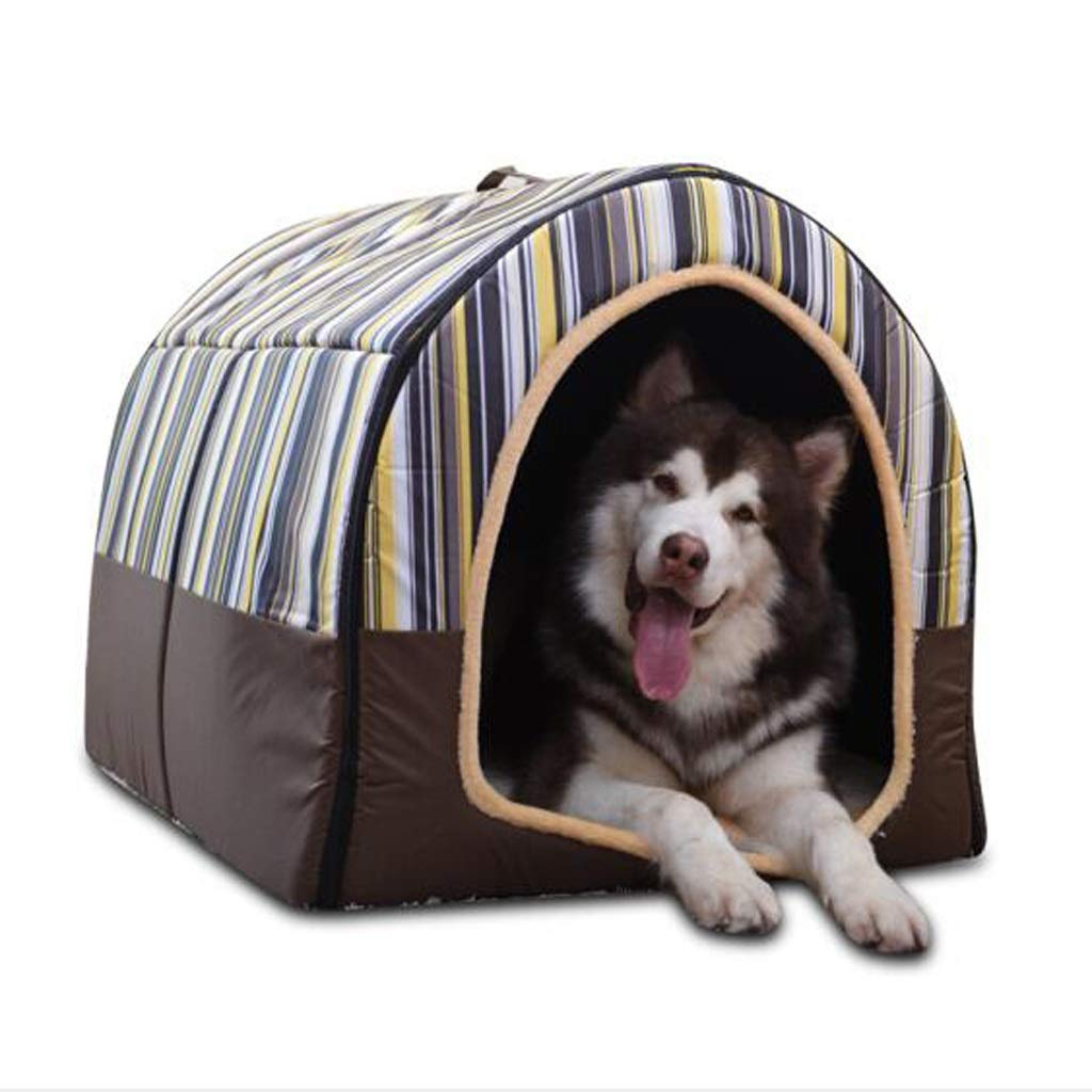 M Ronghuafugui Kennel Large Dog Medium Dog Pet Nest, Cat House Dog House Indoor Washable Dog Bed (color   M)