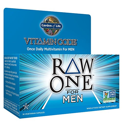 Garden of Life Vegetarian Multivitamin Supplement for Men Vitamin Code Raw One Whole Food Vitamin