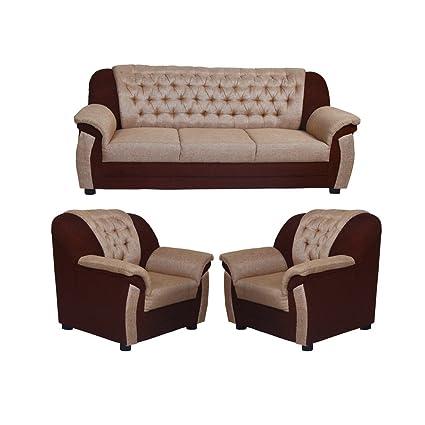 Look In Furniture Clara Sofa Set Beige Cream 3 1 1 Amazon In