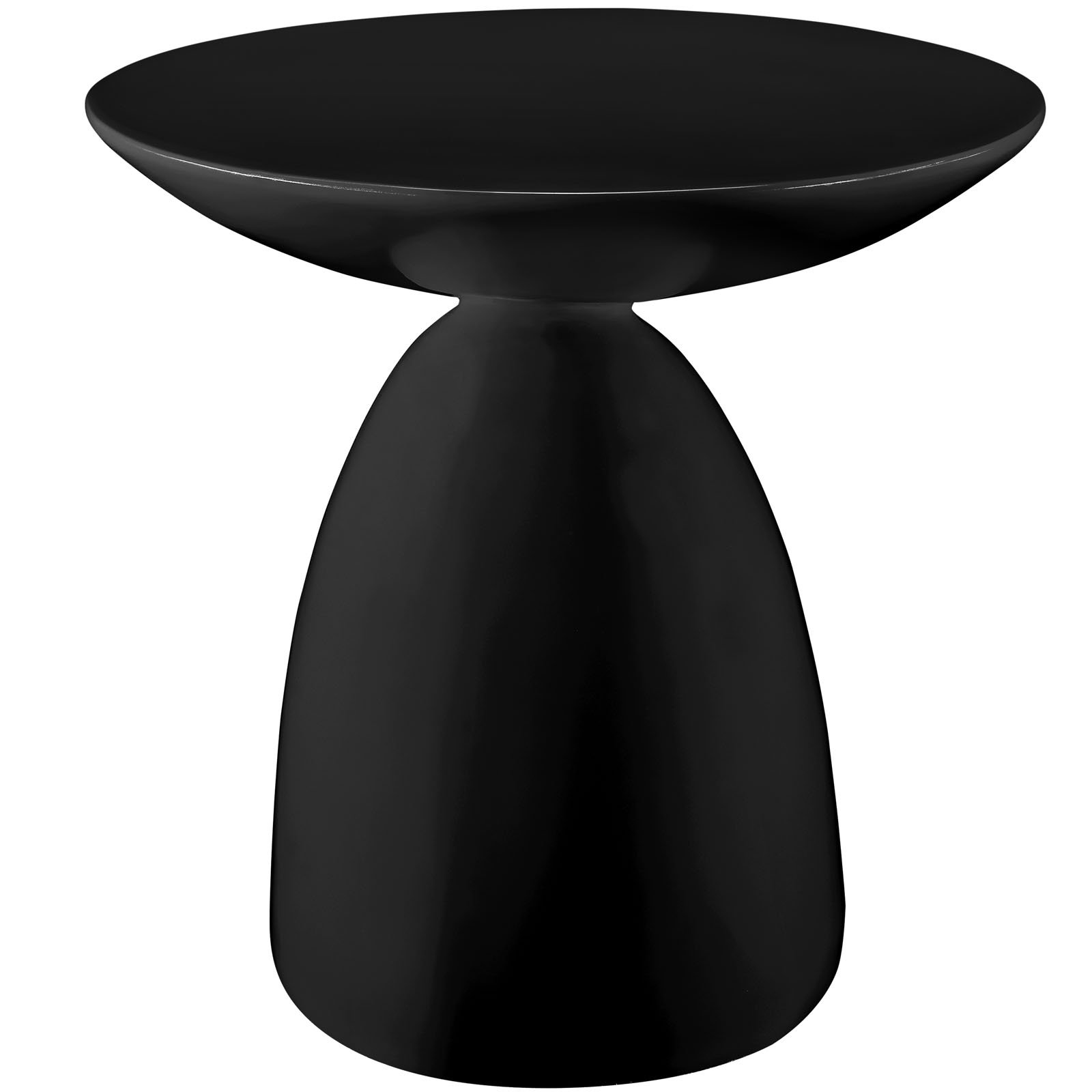 Hip Mod Hotel Sculptural Side Table in Black