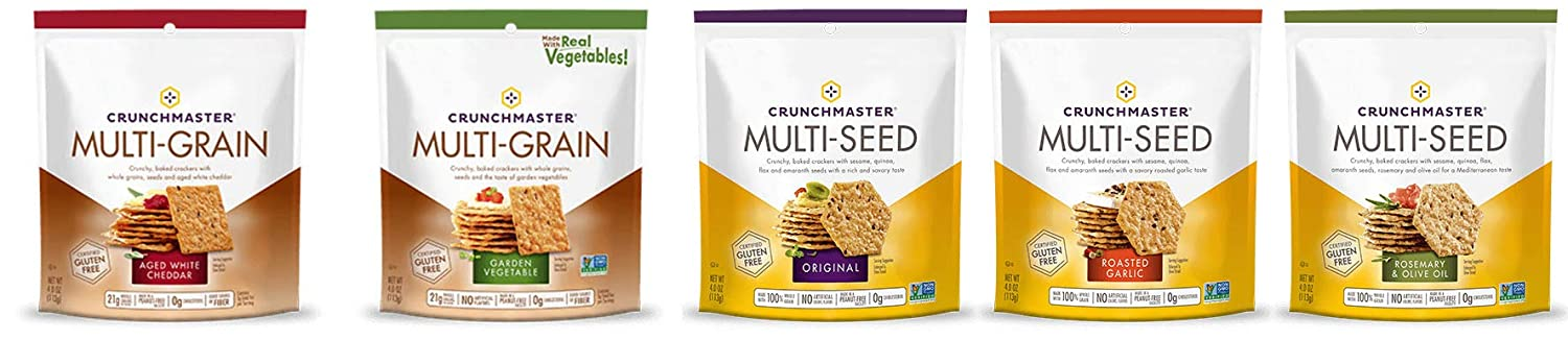Crunchmaster Variety Pack of 5 - 4 oz each