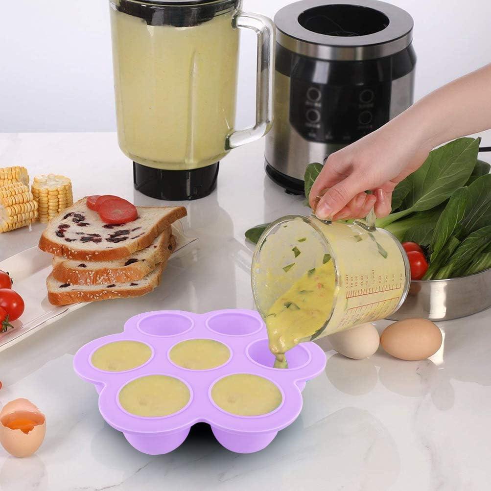 Zeattain Silikon Babynahrung Aufbewahrung Beh/älter 100/% BPA-freie und FDA-Zertifizierung Mit L/öffel und Regal Tiefk/ühlbeh/älter f/ür Babynahrung Lila /& Blau