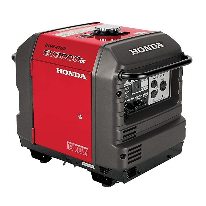 Best Fuel Efficient Gasoline Powered Inverter Generator: Honda EU3000iS, 2800 Running Watts/3000 Starting Watts, Gas Powered, Portable Inverter