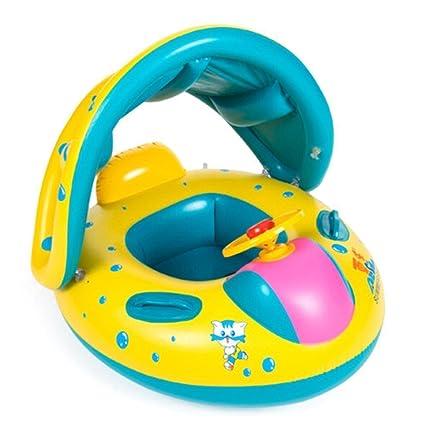 Amazon.com: topwon bebés y niños parasol natación barco ...