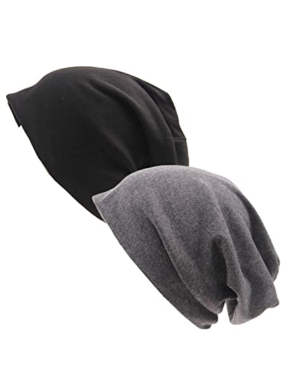 Unisex Lightweight Slouch Beanie Cotton Sleep Skull Cap Stretch Oversized  Hip Hop Chemo Caps Outdoor Hats 14e48690be7