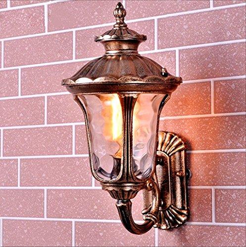 Outdoor Wall lamp lantern Classic Waterproof wall Light E27 Retro antique aged metal brass garden hall Balcony Porch Brass Hall Lanterns