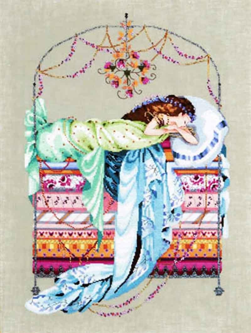 Sleeping Princess Cross Stitch Chart MD123