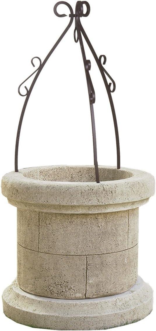 Pozo en piedra Buda,, envejecido, la vieja Jarre, pozo de jardín: Amazon.es: Productos para mascotas