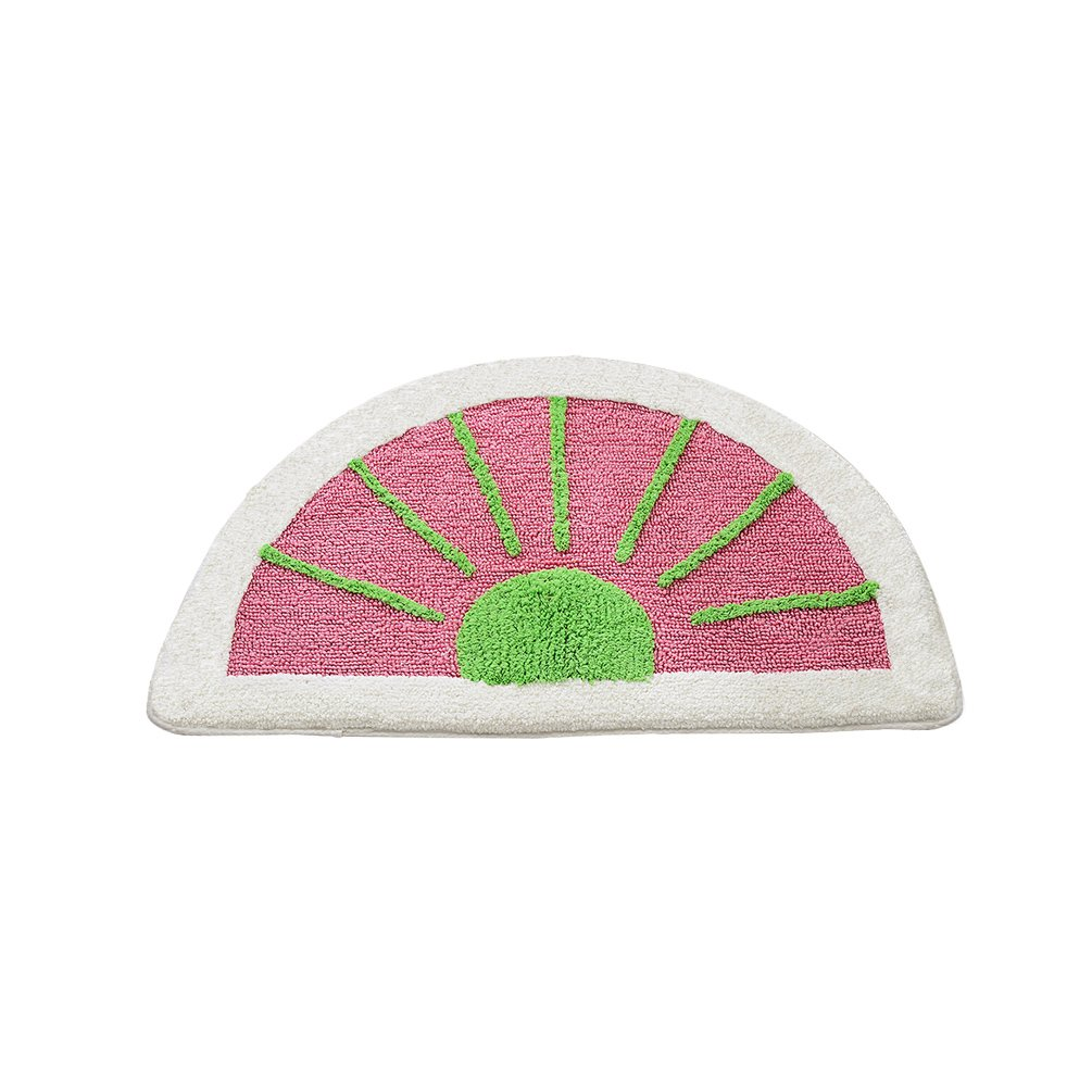 Lesic Soft Microfiber Anti-slip Kids Bath Rug Cute Watermelon 19.7inchX31.5inches (50cmX80cm) Interior Door Bath Mat, Pink