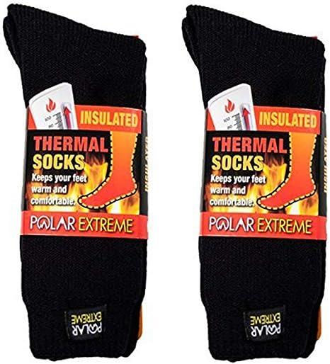 Extreme Thermal socks Long Length Welly Size 2-5.5 Womens Soft Brushed Yarn Ski
