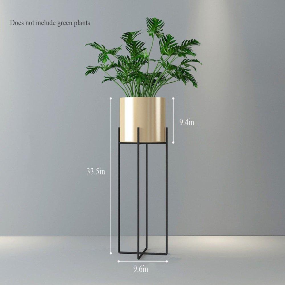 BXR Vaso portafiori da Pavimento in Ferro battuto Minimalista Moderno Minimalista per Fiori in Vaso da Balcone (colore   oro, Dimensioni   Piccolo)