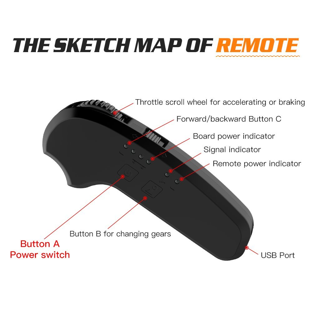 Electric Skateboard with Bluetooth -- TOMOLOO Dragon knight H3  -- Longboard with Remote Controller, 17.5 MPH Top Speed, 12 Miles Max Range by TOMOLOO (Image #8)