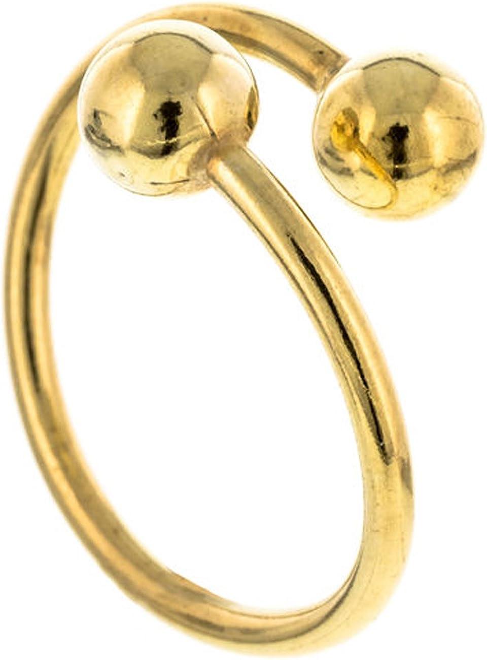 Córdoba Jewels | Anillo en Plata de Ley 925 bañada en Oro. Diseño Duo Esferas Oro