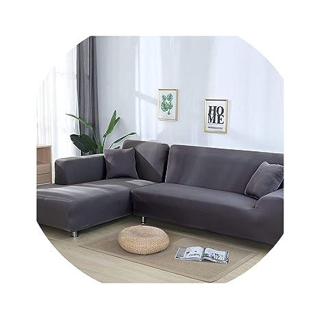 Amazon.com: Funda de sofá maciza funda de sofá fundas para ...