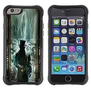 Suave TPU Caso Carcasa de Caucho Funda para Apple Iphone 6 PLUS 5.5 / Green Library Mysterious Kids / STRONG