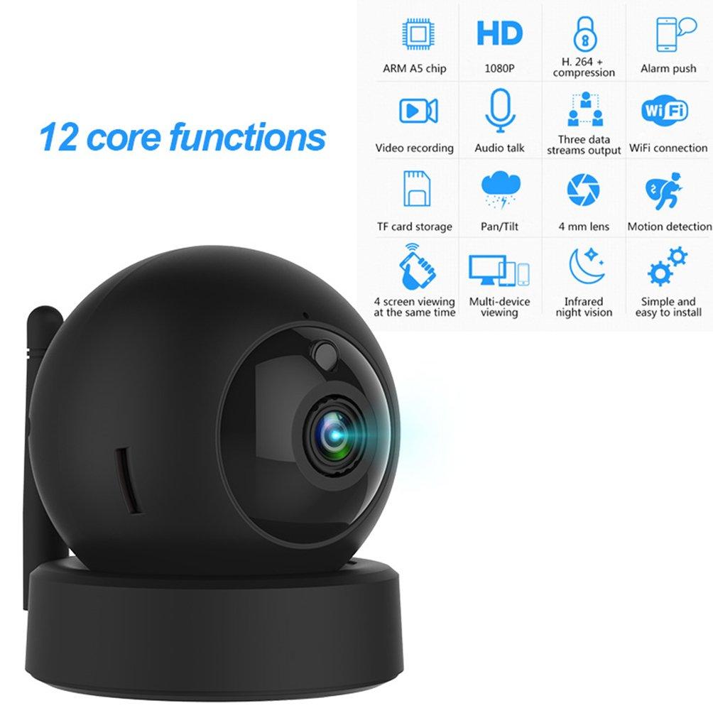 ホームカメラ1080pのwi-Fiセキュリティ監視システムh.264夜間ビジョンと双方向の会話とモーション検知ホームオフィス用のベビーモニターios Android App搭載のペットモニター B07F64Y1MN