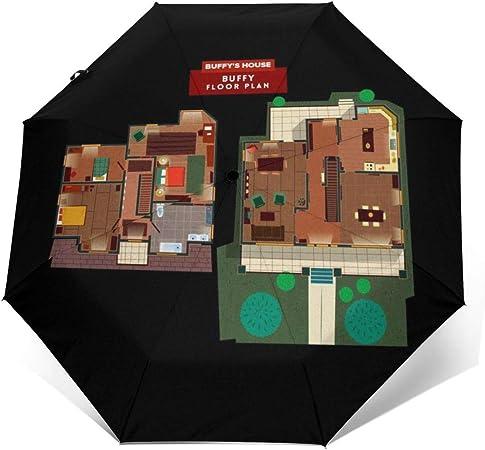 Buffy The Vampire Slayer House Floor Plan Ombrello Compatto Antivento Con Apertura E Chiusura Automatica Pieghevole Amazon It Valigeria