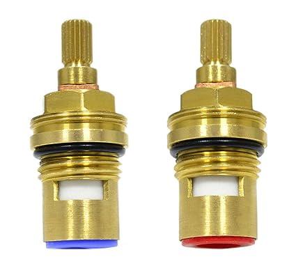 Replacement Ceramic Disc Stem Cartridge Faucet Valve Quarter turn ...