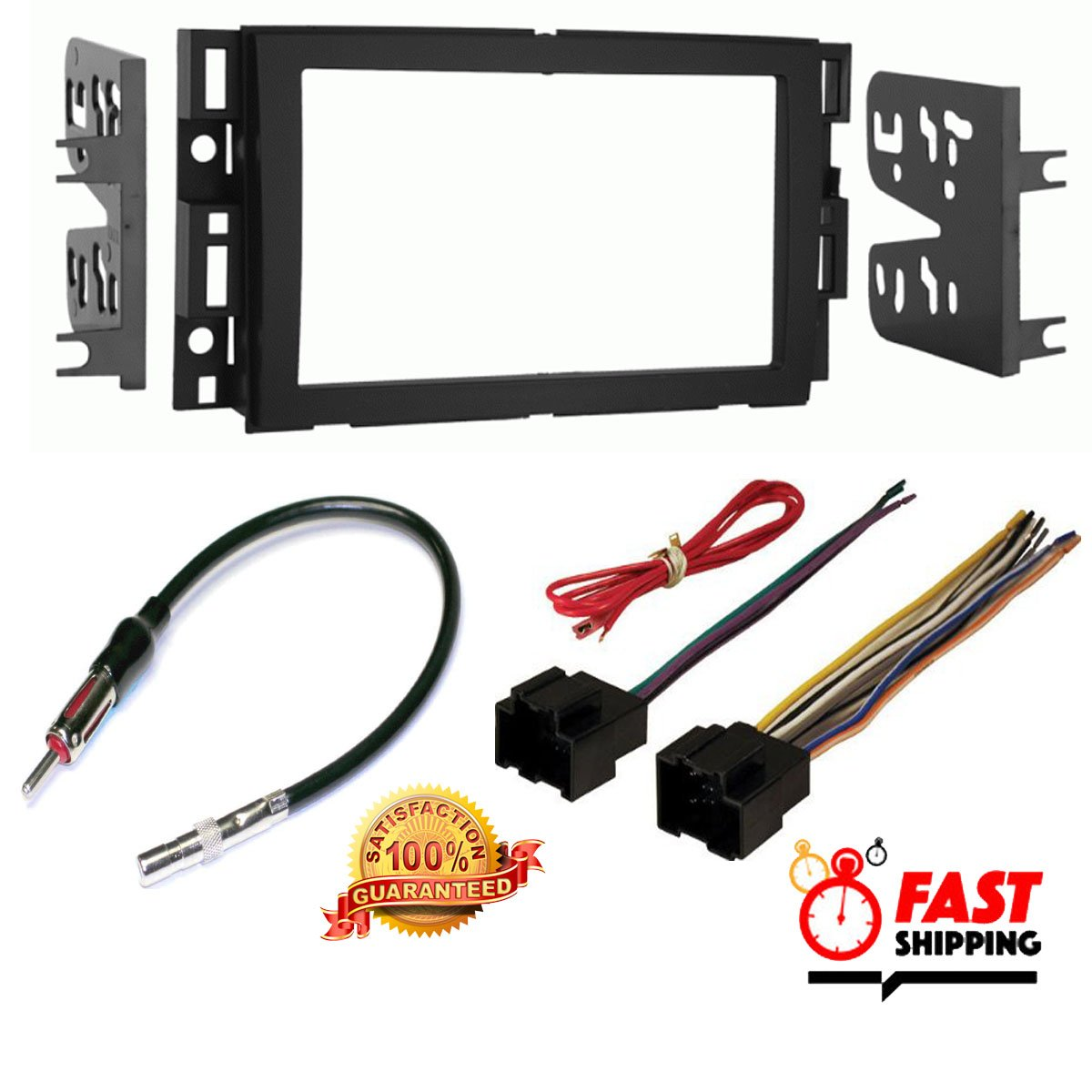 Pontiac 2005 2009 G6 Car Stereo Radio Cd Player Wiring Connector Receiver Install Mounting Kit Antenna Electronics