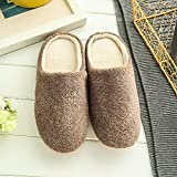 Women Plush Foam Slippers Men Slip-on House Shoes Indoor Outdoor Anti-Skid Pressure Relief Comfortable & Washable White
