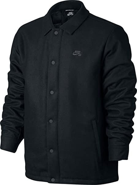 b851cc0964 Amazon.com  Nike SB SB Wool Coaches Jacket Black Anthracite Men s ...