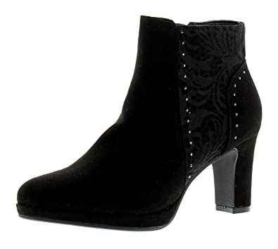 SPROX Stacie Womens Ladies Ankle Boots Black - Black - UK Sizes 3-8 ... e6755bec59