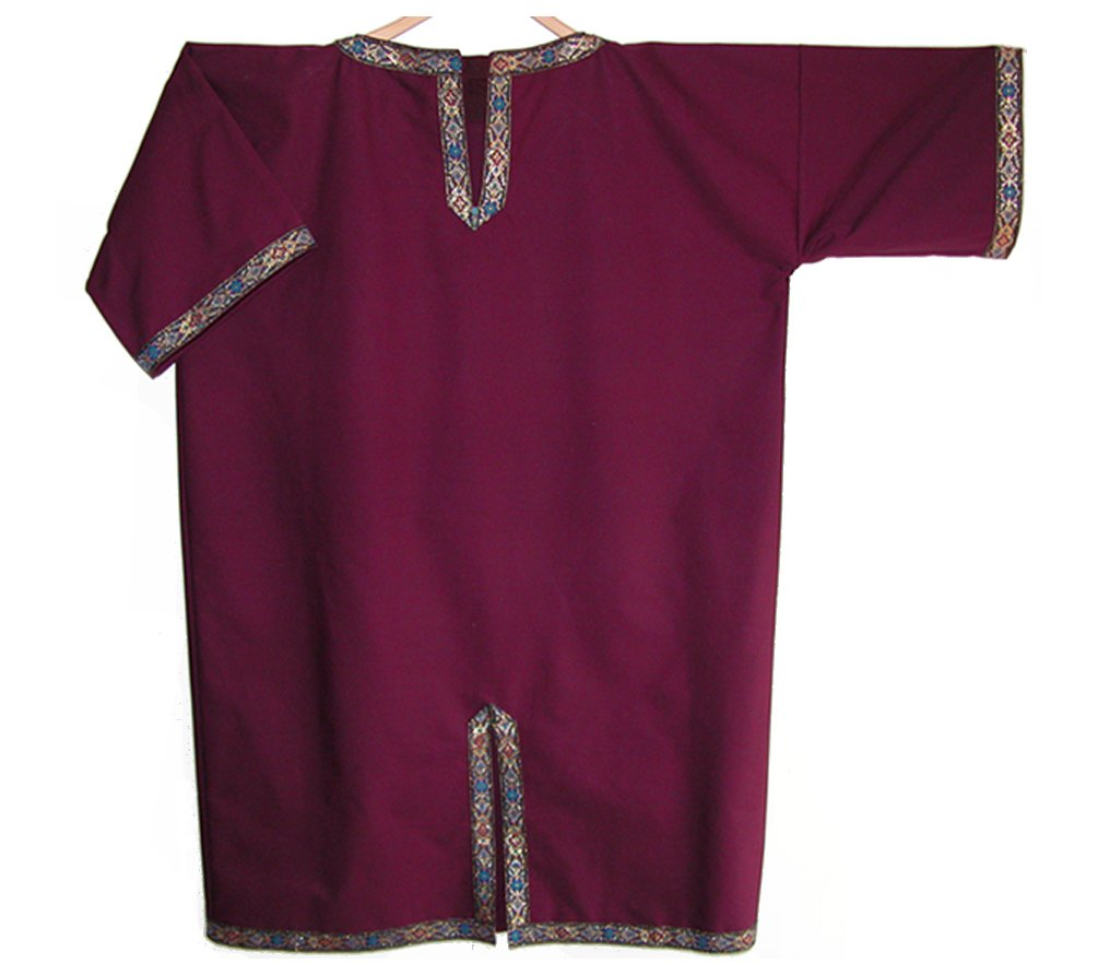 Medieval Noble Man Tunic (Burgundy Linen) by Carpatina - Renaissance Fashions (Image #1)