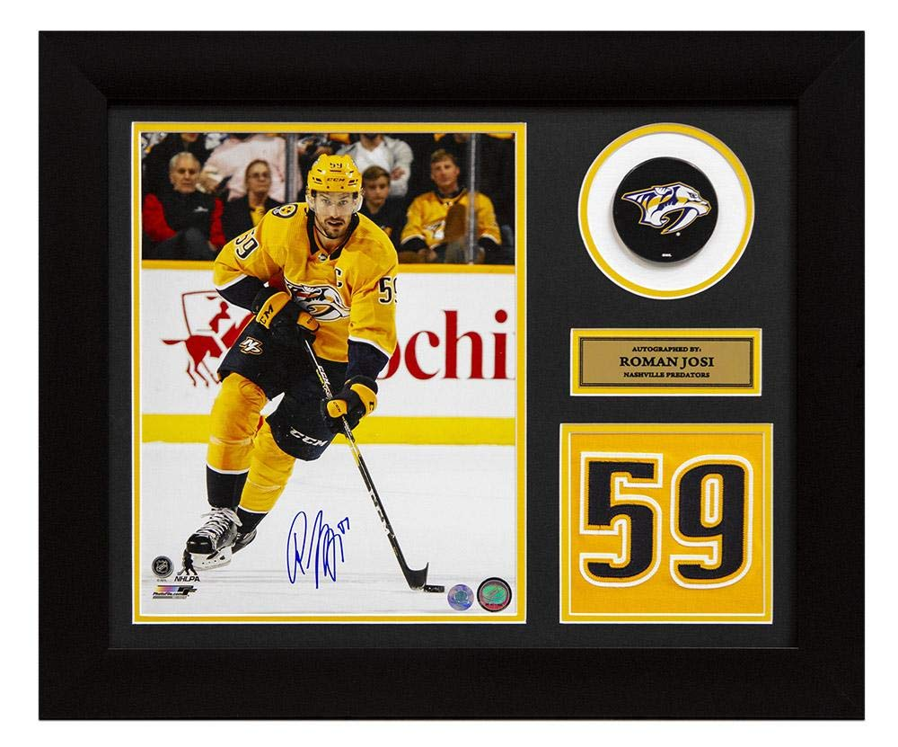 reputable site 13051 522be Autographed Roman Josi Jersey - Franchise Number 24x20 Frame ...