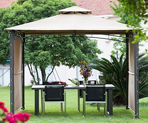 Available in a 10u0027x10u0027 size this gazebo offers a sleek and elegant way to expand your outdoor living space at an affordable price. : backyard gazebos canopies - memphite.com