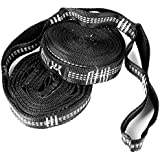 WINNER OUTFITTERS Hammock Straps, Hammock Tree Straps Set, Extra Long Lightweight Hammock Straps Adjustable Loops, 110 Long x 1 Wide inches