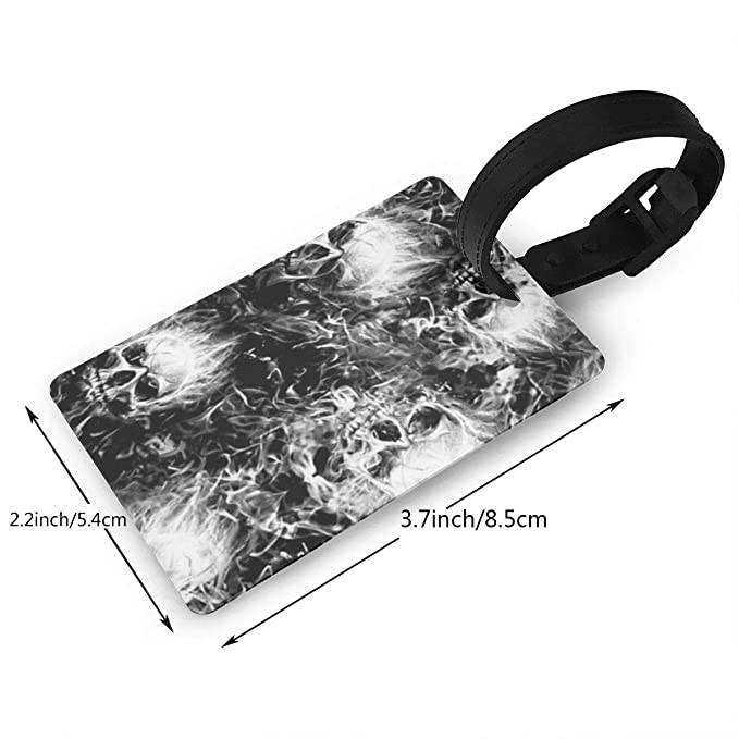 5a10afd4970a Amazon.com: Goodsame Flaming Skulls Personalized Luggage Tag ...