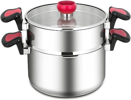 Amazon.com: choiu tri-ply acero inoxidable Pasta y limpiador ...