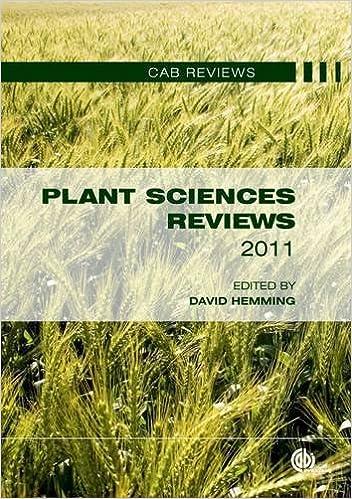 Book Plant Sciences Reviews 2011 (CAB Reviews)
