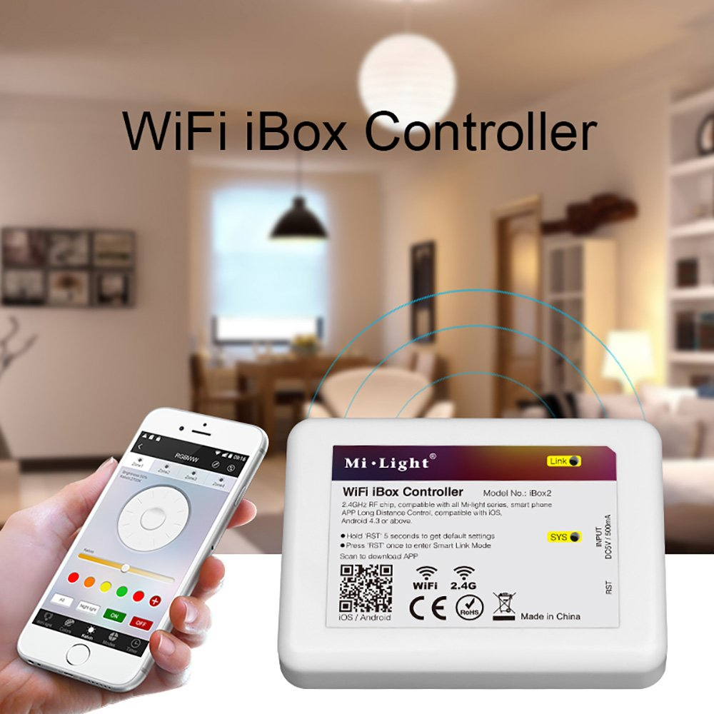 Amazon com: 2 4g LED Milight WiFi iBox 2 Controller, 2 4G